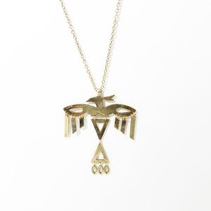 Low Luv x Erin Wasson Gold Thunderbird Necklace